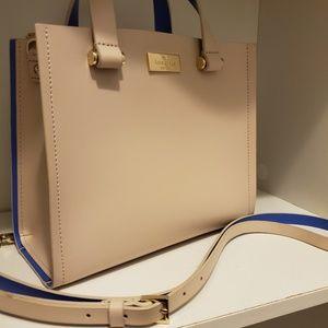 Ivory/Royal blue Kate Spade handbag